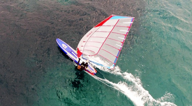 Wing Sail for Raceboard, Marseille and Nicolas Huguet